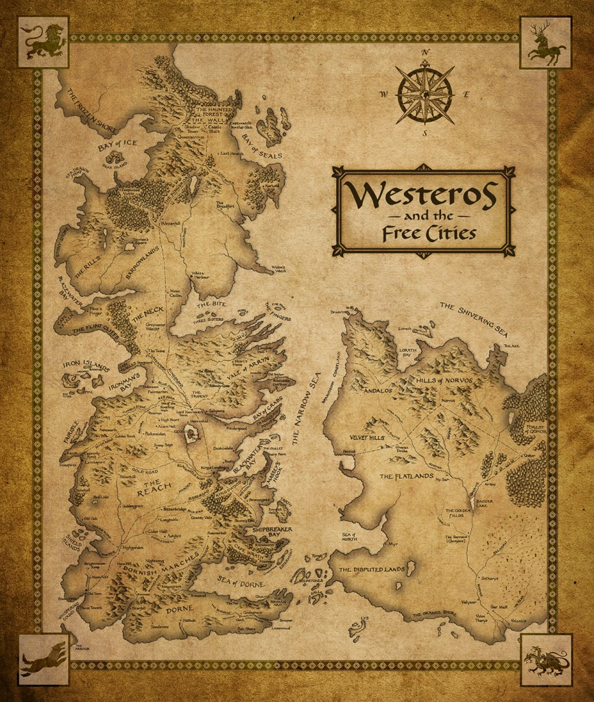 Westeros And Essos New Map