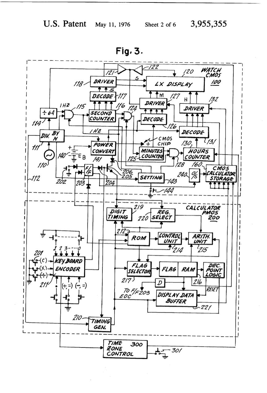 Final Project Media Theory Meaning Systems Cctp 748 Unity Spotlight Wiring Diagram Figure 3 Detailed Block Of The Structure A Calculator Watch Assembly According To This Invention