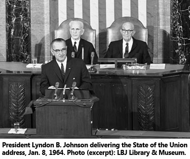 Image result for president johnson declared war on poverty 1964