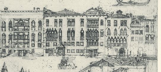 Jörg Schmeisser, German (1942-2012) Detail from Venice I 1976 Etching on paper Artist's proof 29.7 x 39.3 cm Booth Family Center for Special Collections On loan from a private collection