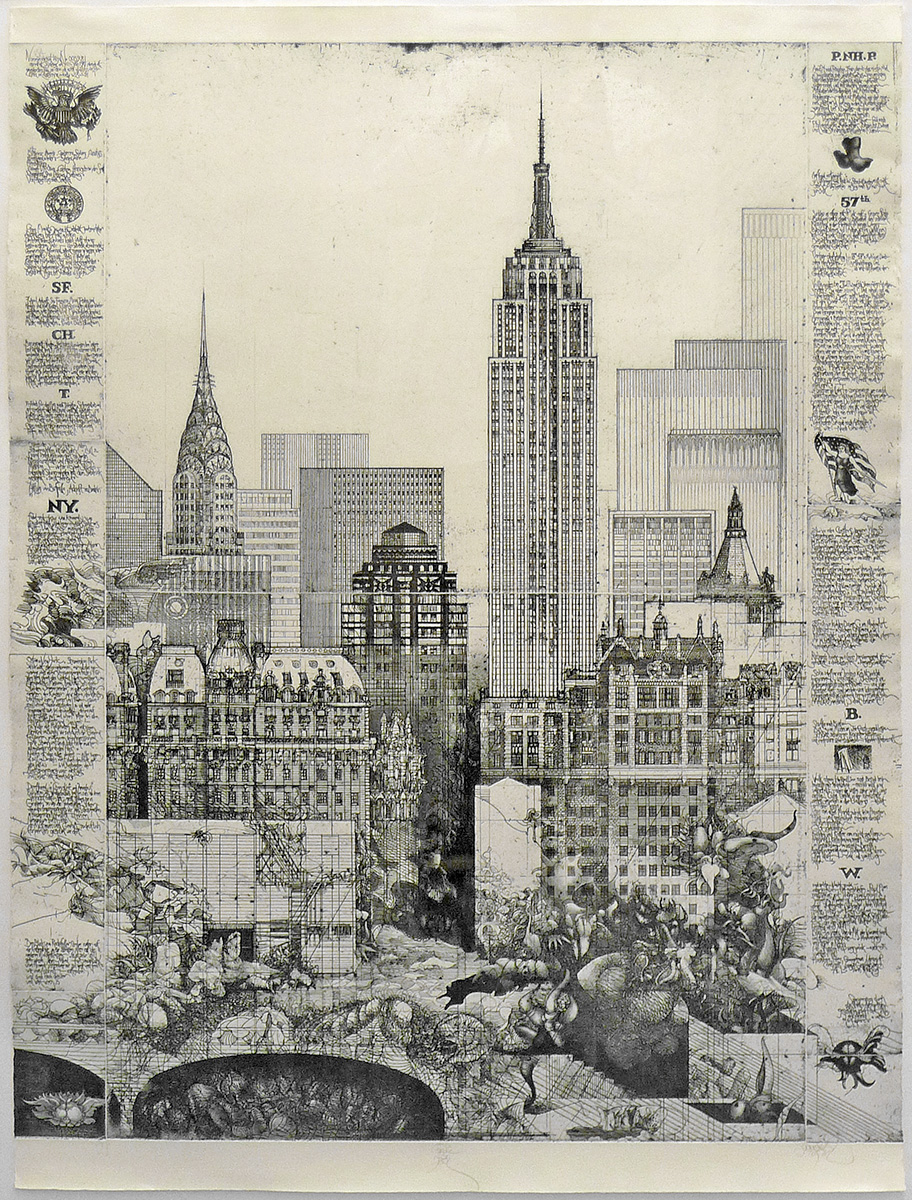Jörg Schmeisser, German  (1942-2012) New York, 1981 Etching on paper Artist's proof 105.3 x 77.8 cm Booth Family Center for Special Collections On loan from a private collection