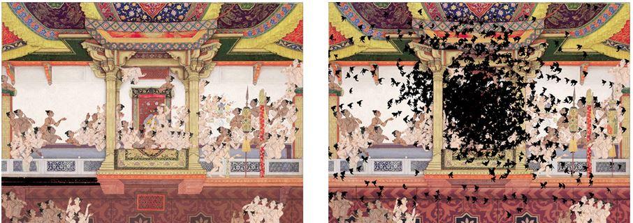 Shahzia Sikander, stills from SpiNN (2003). Video animation. Courtesy of the artist.
