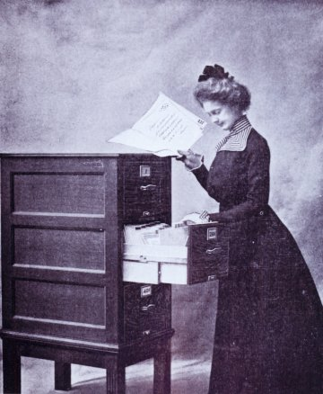 Photograph from Classified Illustrated Catalog of the Library Bureau, 1900.