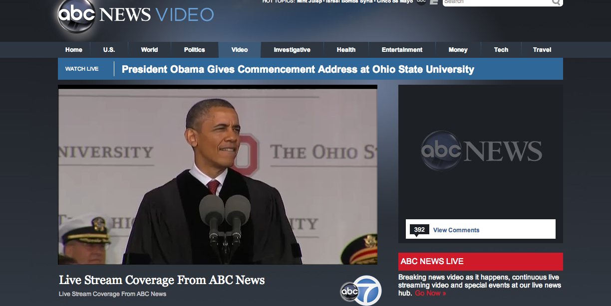 Image taken from ABC's Live Coverage webpage abcnews.go.com/Live ...