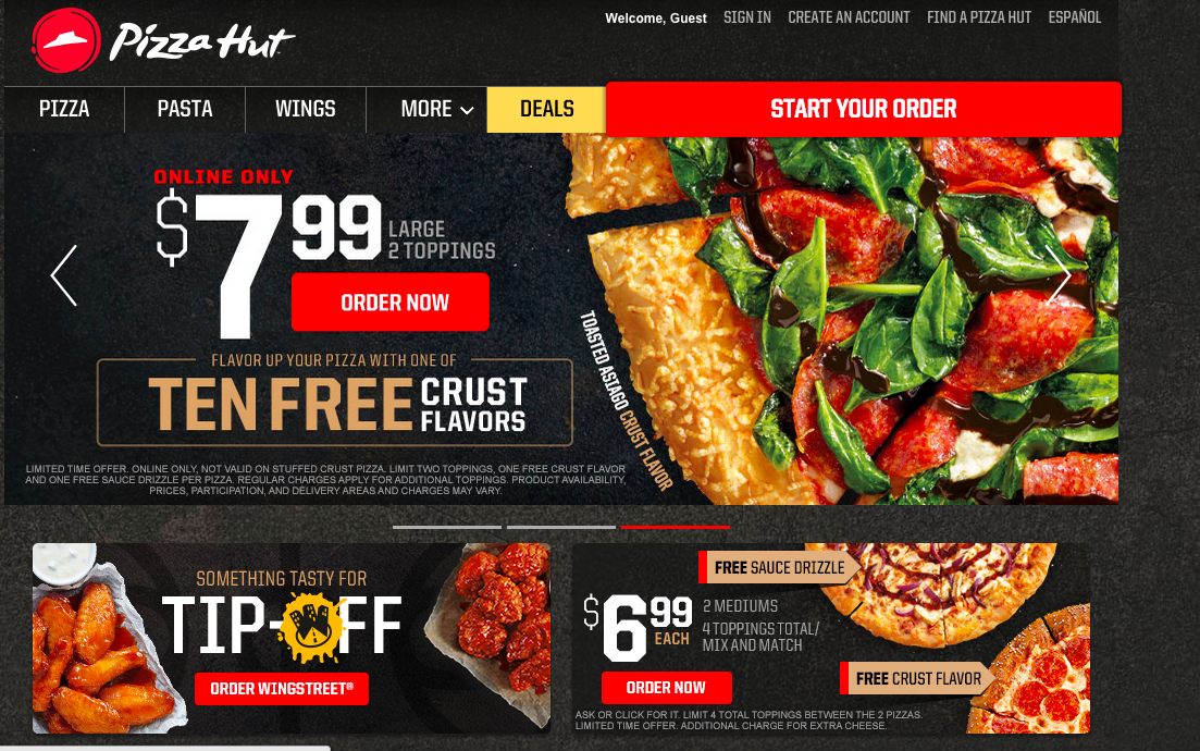pizza hut review of literature local and foreign