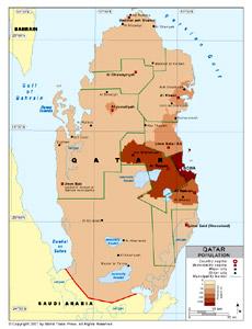 Population Density of Qatar