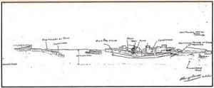 Sketch of Doha fort, 1915