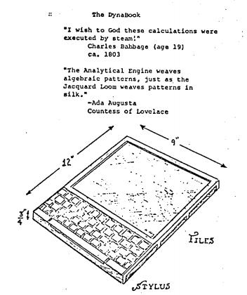 Alan Kay's DynaBook