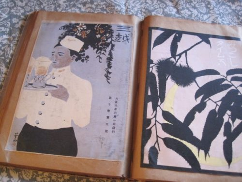 The cover of Mitsukoshi magazine designed by Sugiura Hisui. Photo Courtesy: http://daikatoti.exblog.jp/10484245/