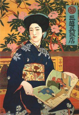 Goyo Hashiguchi's prize-winning Bijin-ka poster in 1905. Photo Courtesy: https://za.pinterest.com/pin/198580664796351361/