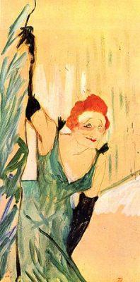 Yvette Guilbert. Henri de Toulouse-Lautrec. Lithograph.
