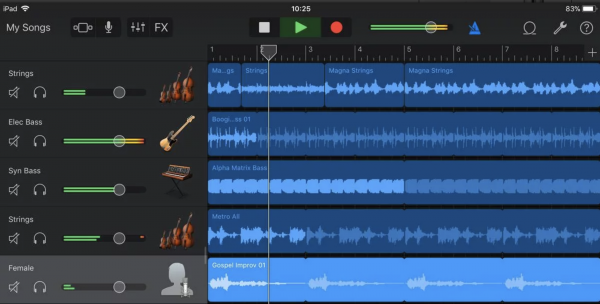 Interactive Affordances in GarageBand for iOS | CCTP 820 – Leading