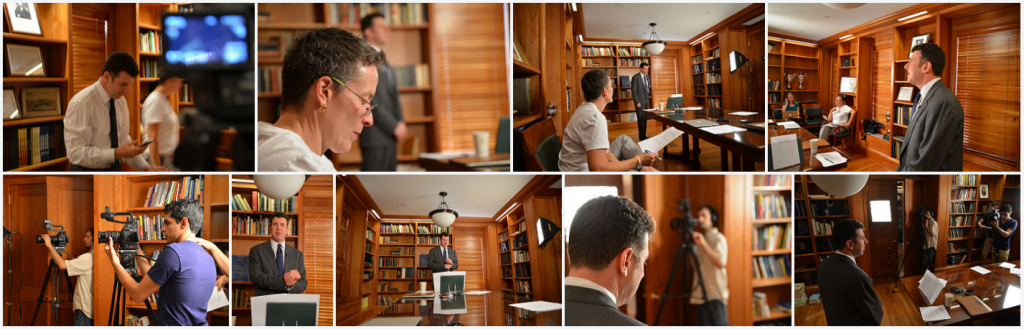 Filming for the original launch of Terrorism and Counterterrorism in 2013.