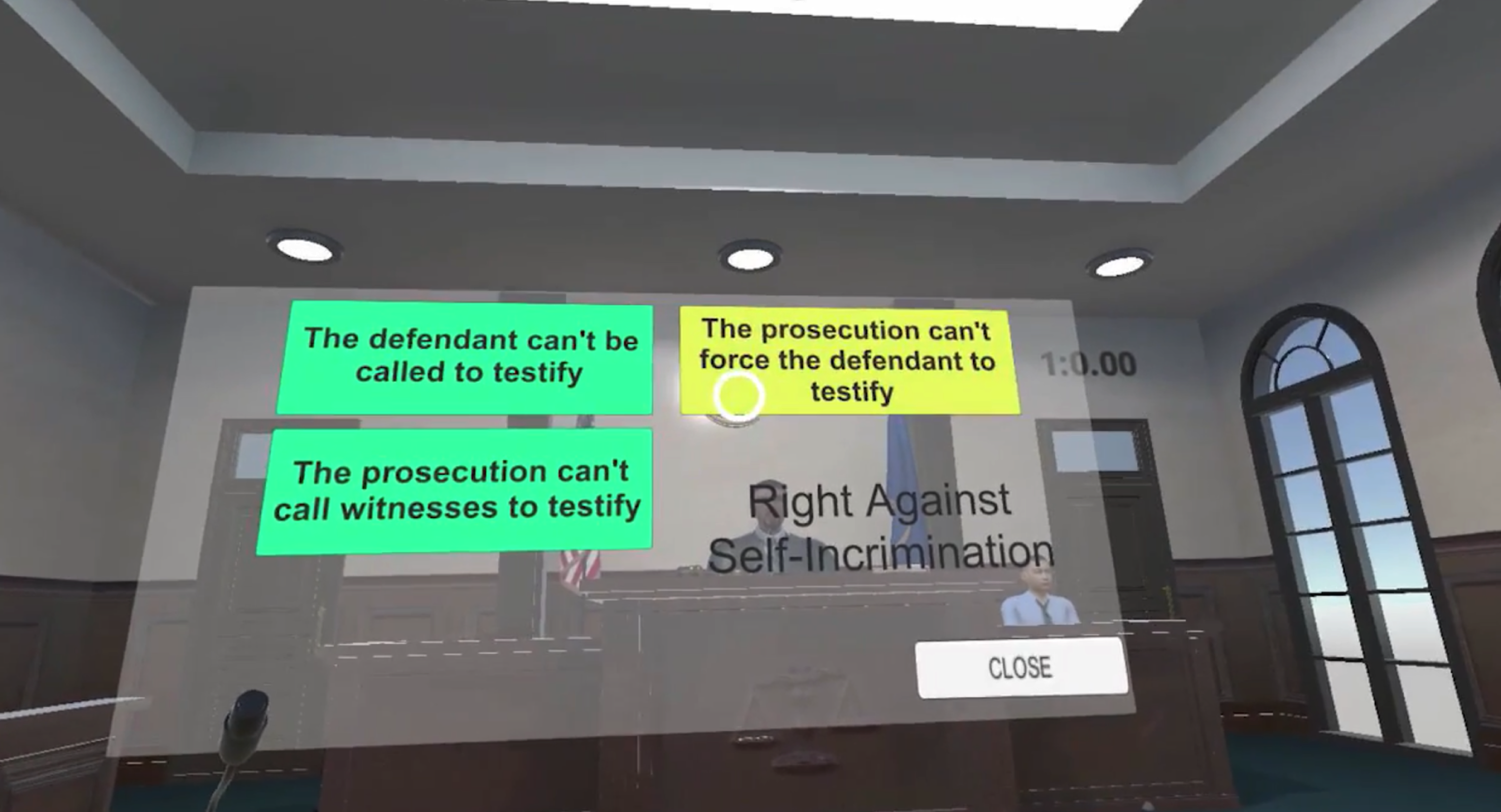 Screenshots aus dem VR-Learning-Tool Evidence Game, das u.a. an der Georgetown University entwickelt wurde