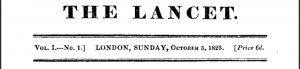 Lancet Issue 1, 1823
