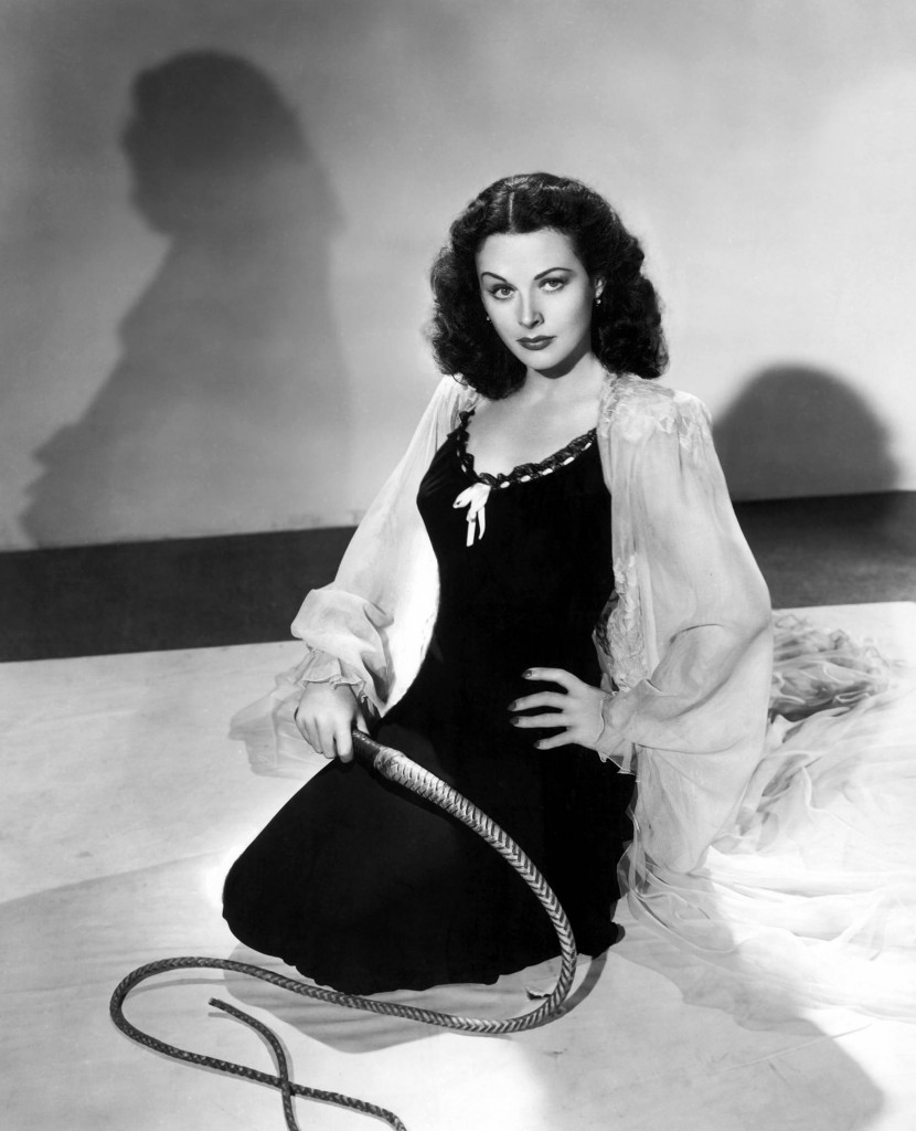 Hedy Lamarr Menacingly Holds a Whip
