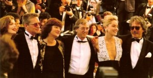 Director, producer, and stars at the Cannes Film Festival 1992