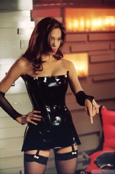 Jolie as Femme Fatale in Mr. and Mrs. Smith