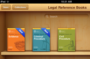 Federal Rules as viewed on an iPad iBook shelf