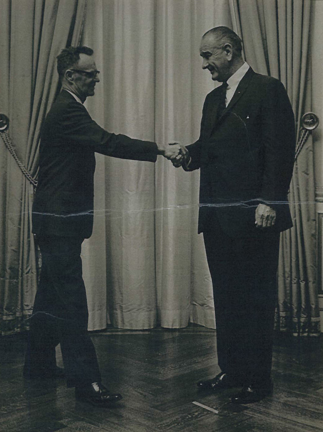 Carl A.S. Coan, Sr. and Lyndon Johnson
