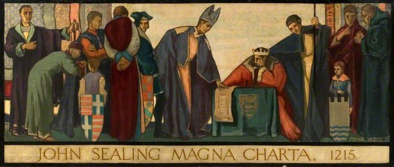 King John sealing Magna Carta