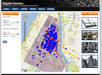 Digital Harlem Mapping Project, created at the University of Sydney