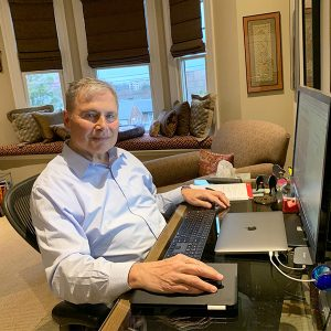 Dr. Weiner in his home office