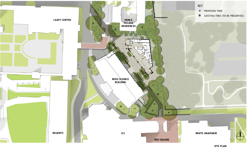 View the latest designs for the northeast triangle master planning Site plan design