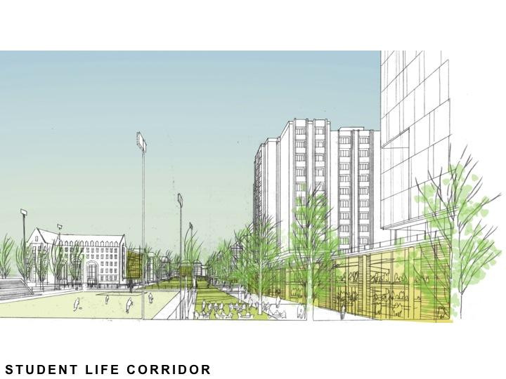 Student Life Corridor View
