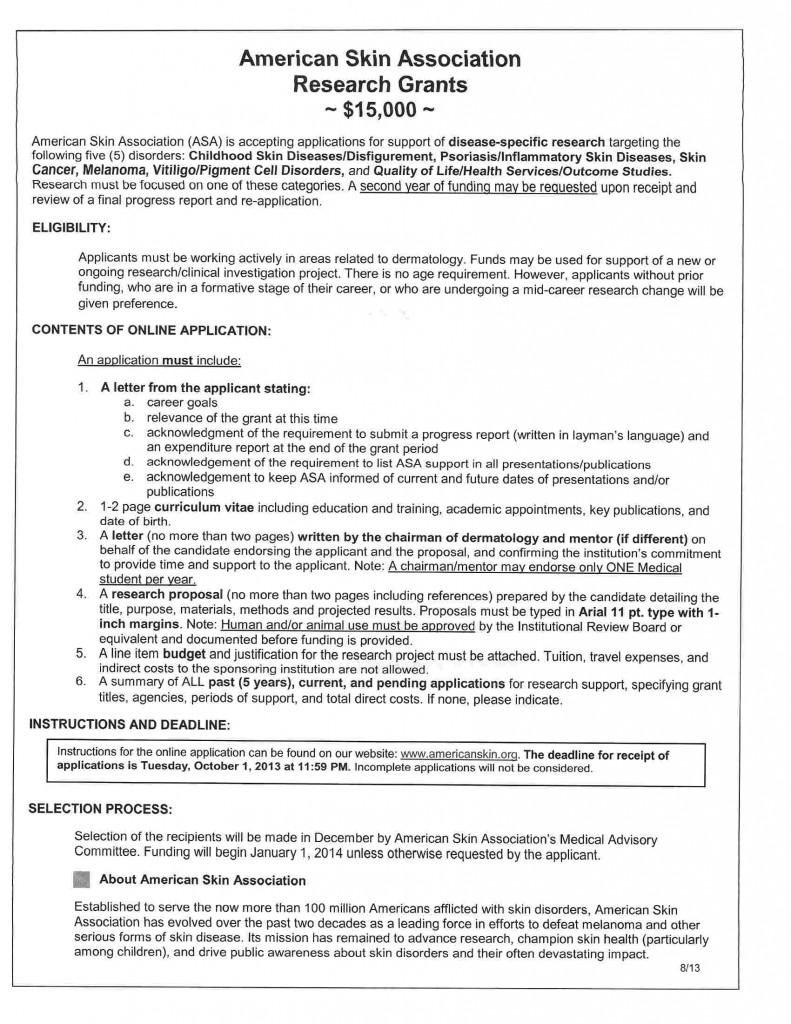 American Skin Association Reserach Opportunities0005