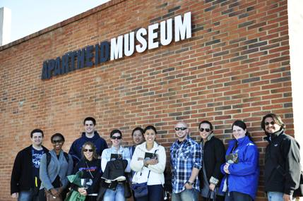 SIM group outside the Apartheid Museum