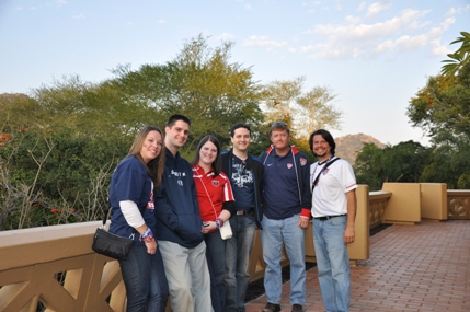 Group at Sun City resort after lunch