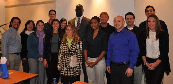 SIM Students with Amadou Fall