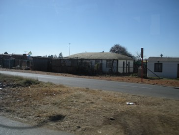 A house on our drive through Soweto, a township of over 3 million in Johannesburg