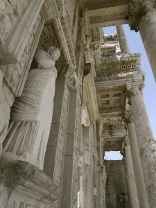 Library of Celsus, Ephesus Turkey, pilgrimage site. Where Paul of Tarsus converted polytheists to Christianity.