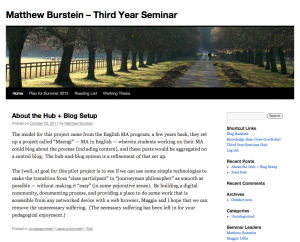 Third Year Seminar Blog