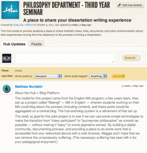 Third Year Seminar Hub