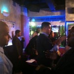 Men's Basketball Georgetown vs. Providence game TMSA Happy Hour students talking